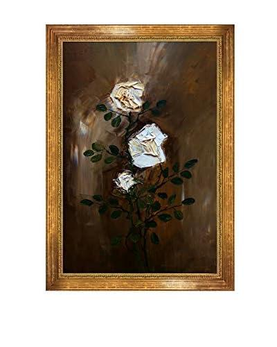Justyna Kopania Roses Framed Canvas Print, Multi, 40 x 28