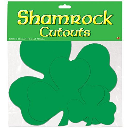 Pkgd Printed Shamrock Cutouts   (9/Pkg)