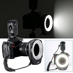 NEEWER 48 LED Macro Ring Light - Fits MOST Popular Lens Sizes