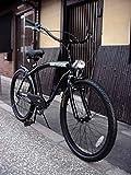 ビーチクルーザー 自転車 シマノ6段変速 極太フレーム 砲弾型ライト付 ランキングお取り寄せ