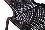 3er-SET-Bistroset-Sitzgruppe-Garnitur-Gartengarnitur-Polyrattan-braun-Klapptisch