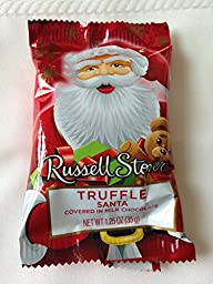 Russell Stover Milk Chocolate Truffle Santa, 1.25 oz, PACK OF 18