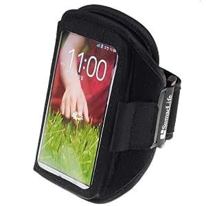 SumacLife Running Sports GYM Armband Case for LG G2 / LG Nexus 5 / LG Nexus 4 / LG Optimus GK (Black)