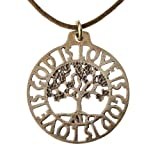 God Is Love Is God Tree of Life Pendant Necklace (Peace Bronze)