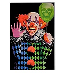 Opticz Evil Clown Blacklight Poster by UltraViolet Distributing