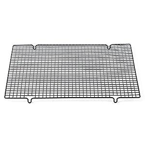 set of 2 large set half sheet cooling grid rack stainless steel wire for baking. Black Bedroom Furniture Sets. Home Design Ideas