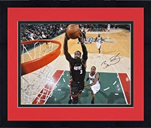 Framed Miami Heat Dwyane Wade Autographed 16 x 20 Photo - Mounted Memories Certified... by Sports Memorabilia