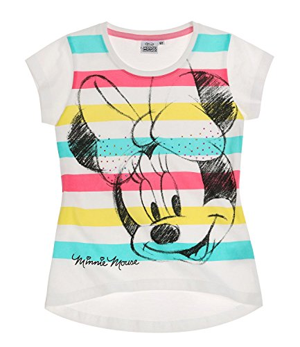 Disney-Minnie-Chicas-Camiseta-de-manga-corta-Blanco-140