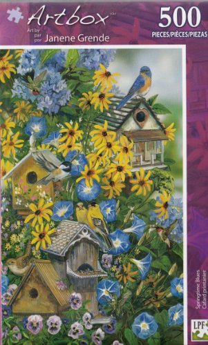 ArtBox 500 Pc Puzzle Art by Janene Grende Springtime Blues