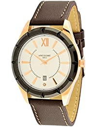 Awesome Swiss Analog Off-White Dial Men's Watch - FGW050