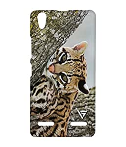 Vogueshell Cute Cat Printed Symmetry PRO Series Hard Back Case for Lenovo A6000
