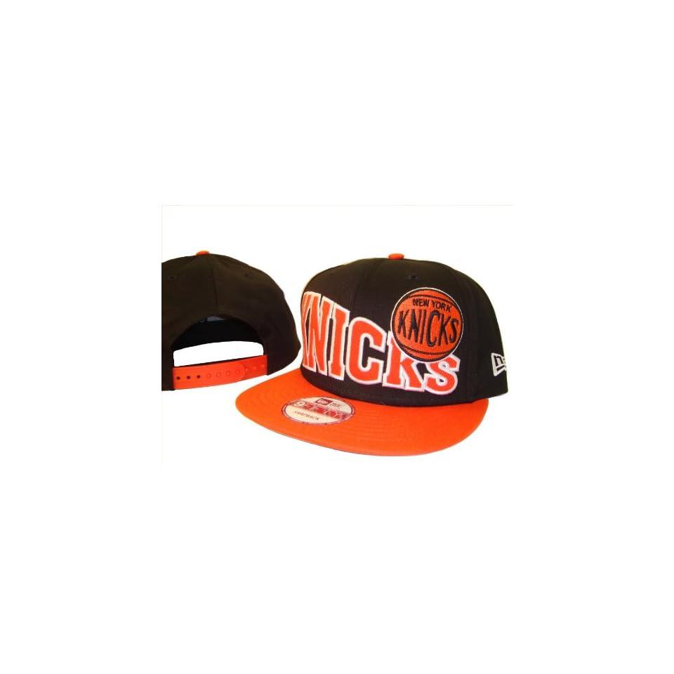 47522165b5c50 Black   Orange New York Knicks New Era 9Fifty Adjustable Snap Back Snapback Baseball  Cap Hat