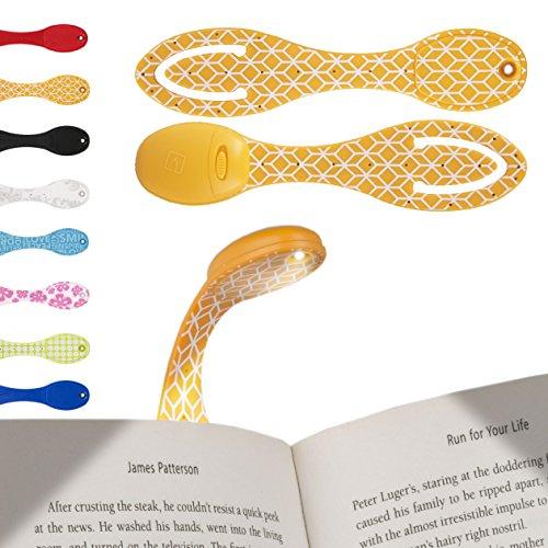 LED-Leselicht-LED-Klemmleuchte-LED-Buchlampe-Klemm-Lesezeichen-Das-Flexilight-ist-ideal-furs-Lesen-im-Bett-und-ist-ein-groartiges-Weihnachtsgeschenk-Batterien-im-Lieferumfang-enthalten-Orange