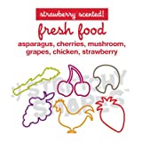 Stretchy Shapes Silly Bands, Animal Bands 24 Band Pack, Asparagus, Cherries, Mushroom, Grapes, Chicken, Strawberry, Strawberry Scented