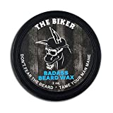 Badass Beard Care Beard Wax For Men - The Biker Scent, 2 oz - Softens Beard Hair, Leaves Your Beard Looking and Feeling More Dense