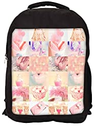 Snoogg Learn To Love Yourself Backpack Rucksack School Travel Unisex Casual Canvas Bag Bookbag Satchel