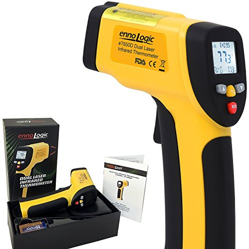 Temperature Gun ennoLogic Dual Laser Non-Contact Infrared Thermometer -58°F to 1202°F - Accurate NIST Traceable Digital Surface IR Thermometer eT650D (Refrigerator Motor Compressor compare prices)