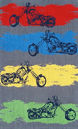 The Rug Market Motocross Children's Play Area Rug, 2.8' x 4.8'