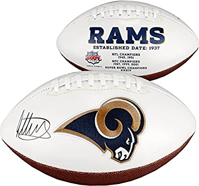 Todd Gurley Los Angeles Rams Autographed White Panel Football - Fanatics Authentic Certified - Autographed Footballs