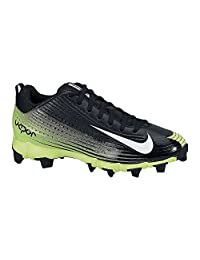 Nike Men's Vapor Keystone 2 Low Molded Baseball Cleats Black/Green 10 US