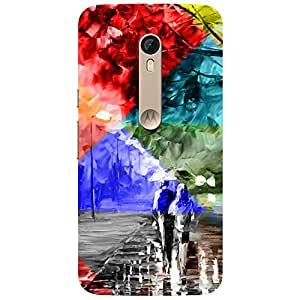 Abstract Girl & Boy - Mobile Back Case Cover For Motorola Moto X Play