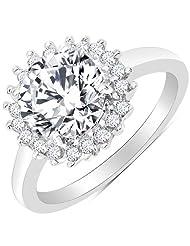 BridalMe American Diamond Silver Ring For Women (JZR2416WCZ_SS)
