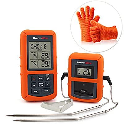 ThermoPro TP20 Wireless Remote Digital Cooking Food Meat Thermometer with Dual Probe for Smoker Grill Oven BBQ from ThermoPro