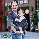Portabeb� manos libres de bamb�, un talle sirve para todos, con bolsa para reci�n nacidos y ni�os peque�os de hasta 35 libras combinada de regalo