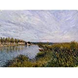 Tallenge Old Masters Collection - View Of Saint-Mammès By Alfred Sisley - A3 Size Premium Quality Rolled Poster