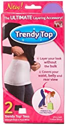 Trendy Top Ultimate Layering Accessory (2 Pack), Black /White