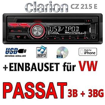 VW passat 3B 3BG clarion cZ215E-autoradio mP3/uSB avec kit de montage