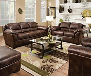 Enjoyable Fenchbarney Fania Nubuck Bonded Leather Sofa And Love Seat Ocoug Best Dining Table And Chair Ideas Images Ocougorg