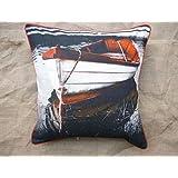 Which Kraft Cotton Canvas Bnw20 Cushion Cover- Multi Color, 40.64 Cm X 40.64 Cm