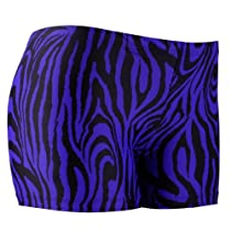 "Spandex Shorts, 3"" Inseam, Zebra Purple, Medium"
