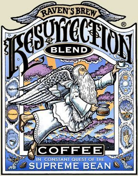 Raven's Brew Whole Bean Resurrection Blend, Full City Roast 12-Ounce Bag by Raven's Brew Coffee