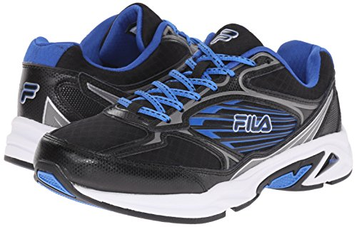 Fila Men's Inspell 3-M Running Shoe, Black/Dark Silver/Prince Blue, 13 M US