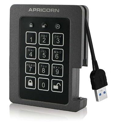 Apricorn Aegis Padlock 120 GB SSD 256-Bit, FIPS 140-2 Level 2 Validated Ruggedized USB 3.0 Encrypted External...