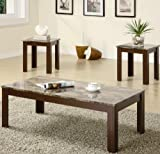 Coaster 3 Piece Occasional Table Set w/ Faux Marble Top