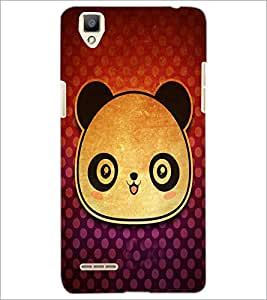 PrintDhaba Panda Face D-3417 Back Case Cover for OPPO F1 (Multi-Coloured)