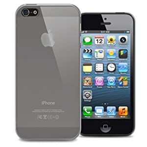 KAYSCASE Slim Soft Gel Cover Case for Apple new iPhone 5 / iPhone 5S, Retail Packaging with Screen Protector (frost clear)
