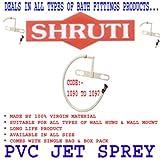 SHRUTI Jet sprey Pvc Plate & Pvc L Band Nozzle With Plain Pipe (Size -12'') Speically For Toilet Jet Sprey