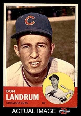 Don Landrum's Card with Ron Santo's Picture Don Landrum / Ron Santo