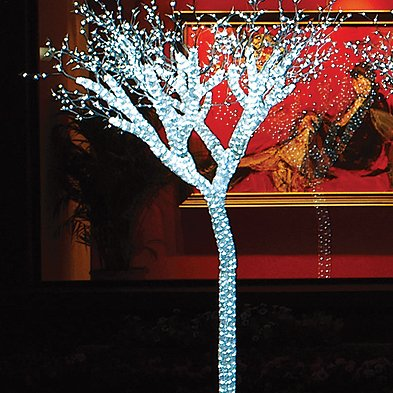 Giant Lighted LED Commercial Grade Ice Tree Christmas Decoration Display 8'