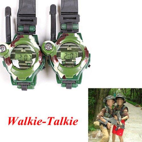 BestDealUSA 7 in 1 Wrist Watch Style Exquisite 150M Working Distance Walkie-Talkie New
