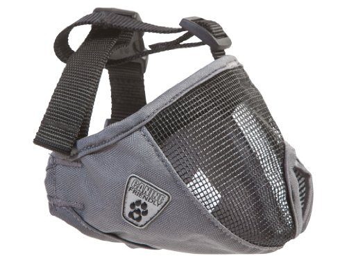 Canine Friendly Short Snout Dog Muzzle, Medium, Charcoal (Muzzle For Bulldog compare prices)