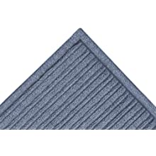 "Notrax 161 Barrier Rib Entrance Mat, for Indoor Main Entranceways and Heavy Traffic Areas, 4' Width x 10' Length x 3/8"" Thickness, Slate Blue"