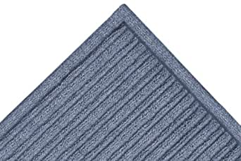 """Notrax 161 Barrier Rib Entrance Mat, for Indoor Main Entranceways and Heavy Traffic Areas, 4' Width x 10' Length x 3/8"""" Thickness, Slate Blue"""