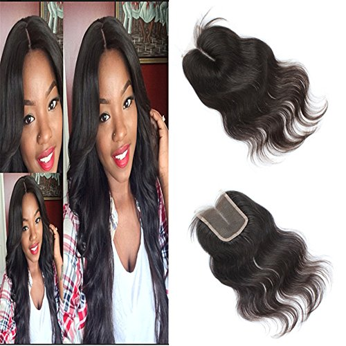 E-forest-hair-Virgin-100-Brazilian-Remy-Human-Hair-Middle-Part-Body-Wave-354-Top-Lace-Closure-Natural-Black-10-inch130-Density-Bleached-Knots-Baby-Hair-EJ-01