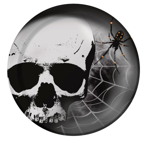 Creative Converting 8 Count Skull Terror Paper Dinner Plates - 1
