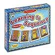 Carson-Dellosa Publishing CD-3121 Carson-Dellosa Learning To Sequence 4-Scene Set, 48 Picture Cards, PreK-3